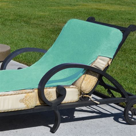 Chaise Lounge Size linum home textiles standard size chaise lounge cover aqua outdoor care