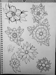 tattoo flash flowers the gallery for gt neo traditional flower tattoo designs