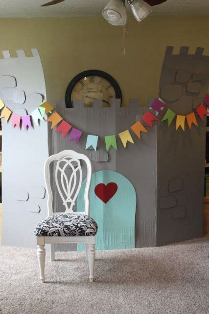 just what i squeeze in eliza s big girl room cardboard castle leftover paints free magic just