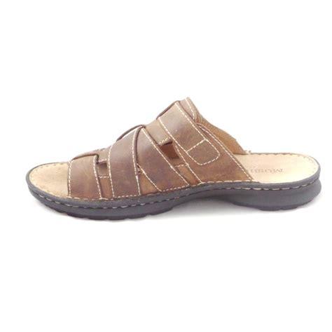 mule sandal moshulu mens brown leather slip on mule sandal moshulu