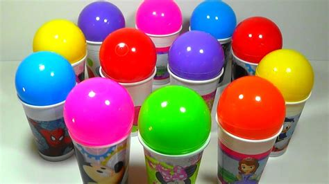 color pictures cups and balls eggs learning colors toys for