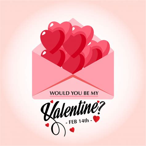 would you be my valentines would you be my s stylish vector card vector