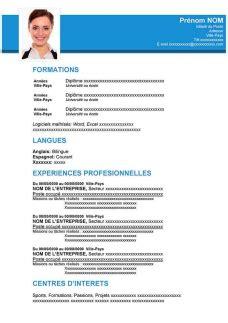 Cv Exemplaires by Exemples De Cv 224 T 233 L 233 Charger Gratuit Au Format Word