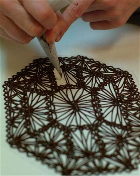 make a chocolate lace cake decoration fit for a queen
