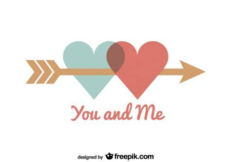 imagenes vectores san valentin corazones unidos por flecha tarjeta del d 237 a de san