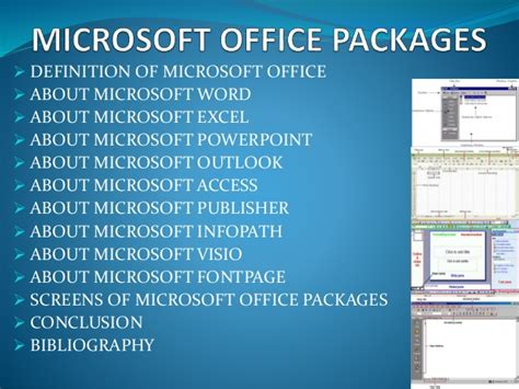 office definition 4 ms office packages
