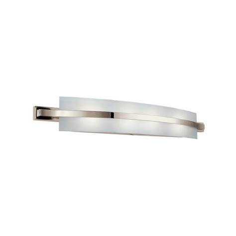 Fluorescent Bathroom Lighting Fixtures Kichler 10688pn Freeport Collection 2 Light Wall Mount Linear Fluorescent Bath Vanity Light