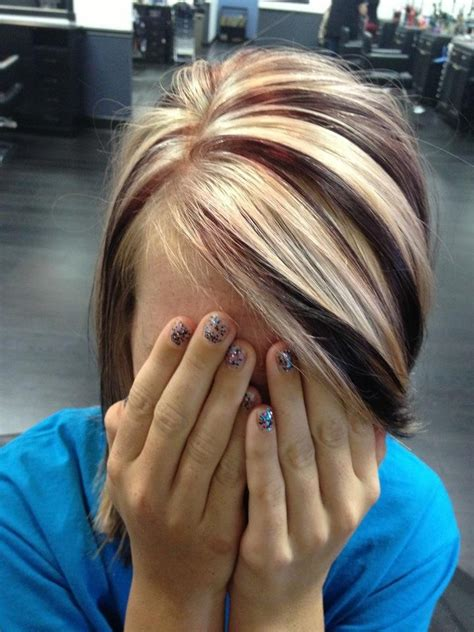 chunky hilites for the front of short hair short hair with chunky highlights hair style and color