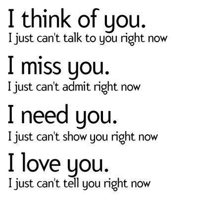 i think i ll you better now i think of you i just can t talk to you right now i