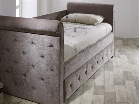 limelight zodiac day bed  trundle guest bed  mink fabric  limelight beds