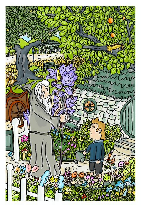 the unexpected visitor the hobbit the unexpected visitor by thintoons on