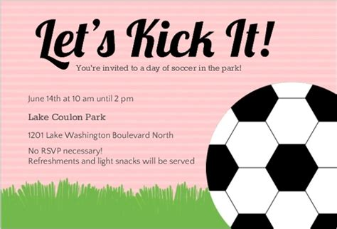 invitation wordings for sports event pink soccer sports invitation soccer invitations
