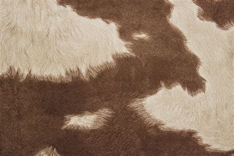 Cowhide Fabric By The Yard by Suede Cowhide Fabric Brown White The Fabric Mill