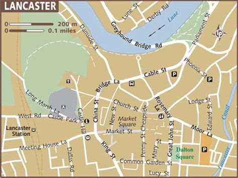 where is lancaster on a map map of lancaster