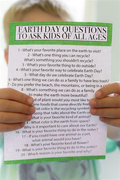 Earth Day Trivia Printable