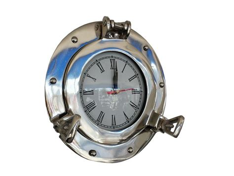chrome theme clock buy chrome decorative ship porthole clock 8 inch
