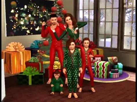 the sims 3 christmas snowflake day simskits youtube