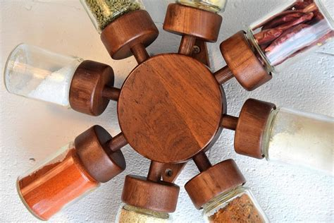 Spice Rack On Wheels 1960 S Teak Spice Rack Wheel For Sale At 1stdibs