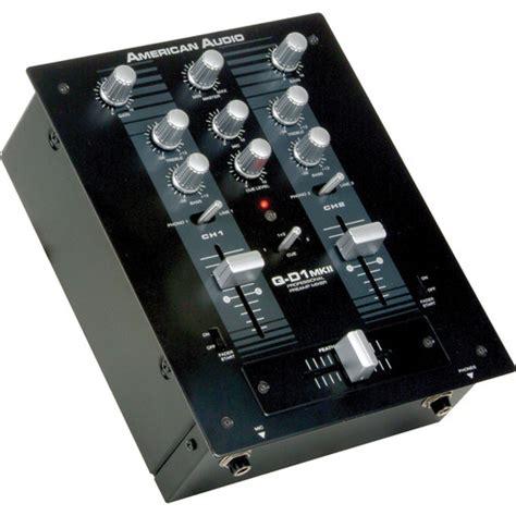 Audio Mixer American Standard american audio q d1 mkii professional 2 channel dj q d1 mkii b h