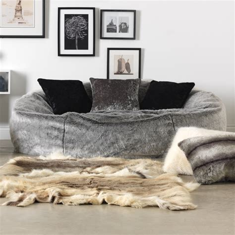 Beanbag Chairs Neo Jumbo Syntetic Fure icon kenai cloud two seater faux fur bean bag arctic wolf