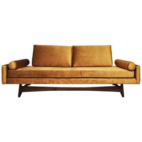 gold sofas for sale adrian pearsall gondola sofa in gold velvet for sale at