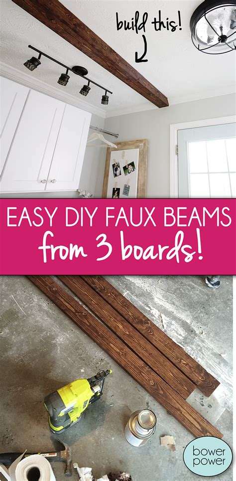 diy faux ceiling beams beam me up scotty bower power