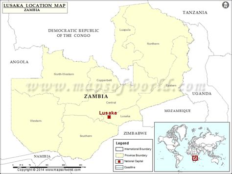 map of lusaka city where is lusaka location of lusaka in zambia map