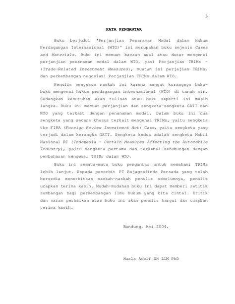 4 perjanjian penanaman modal dalam hukum perdagangan internasional w