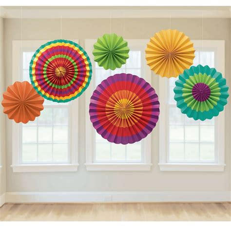 how to paper fan decorations paper fan decoration 6 colorful fans cinco de