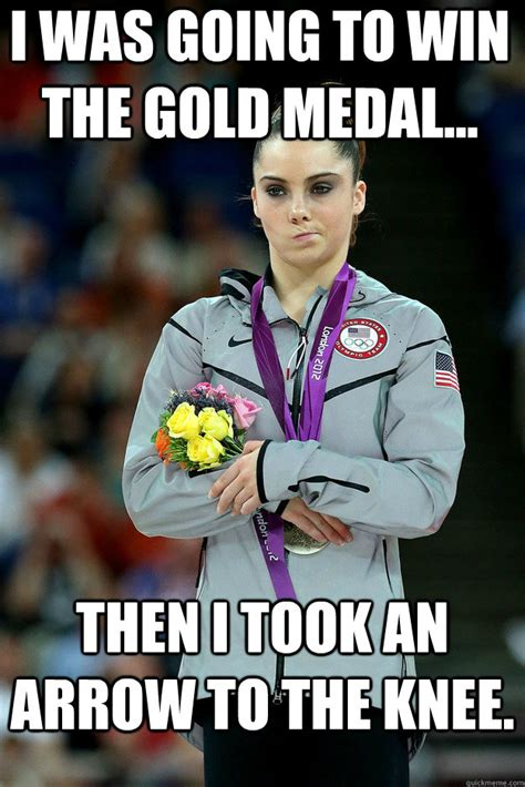 Medal Meme - i was going to win the gold medal then i took an arrow