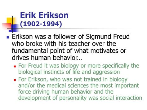Freud Vs Erikson Essay by Erik Erikson Industry Vs Inferiority Essay