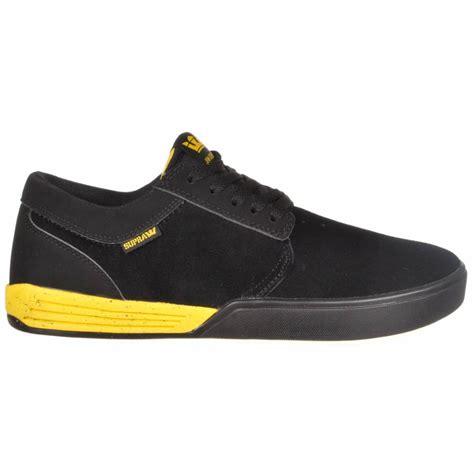 supra shoes supra footwear supra hammer skate shoes black yellow
