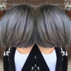 how to dye hair two colors top and bottom transformation going pewter modern salon
