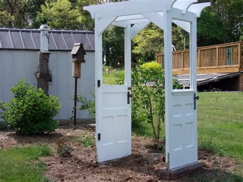 Garden Arbor With Door Remodelaholic 100 Ways To Use Doors