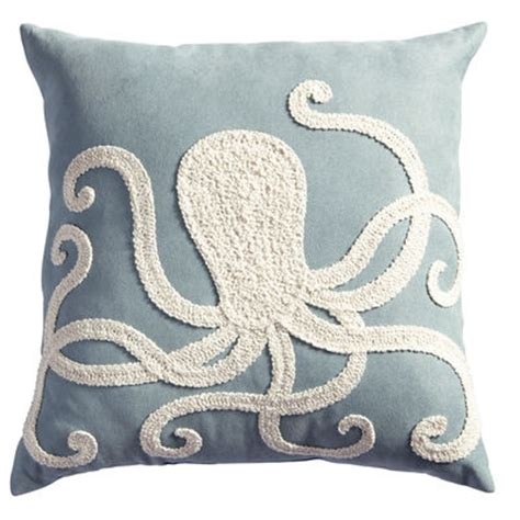 Octopus Pillows by Embroidered Octopus Pillow Pier 1 Imports