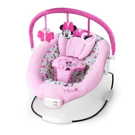 light up baby swing disney baby minnie mouse garden delights bouncer walmart com