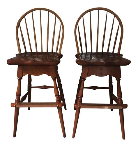 Stickley Furniture Bar Stools by Stickley Bar Stools Set Of 2 Chairish