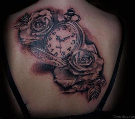 tattoo flower clock 41 fanciful clock tattoos on back