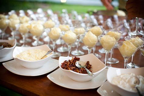 mashed potato martini bar toppings good eats 2013 wedding food trends