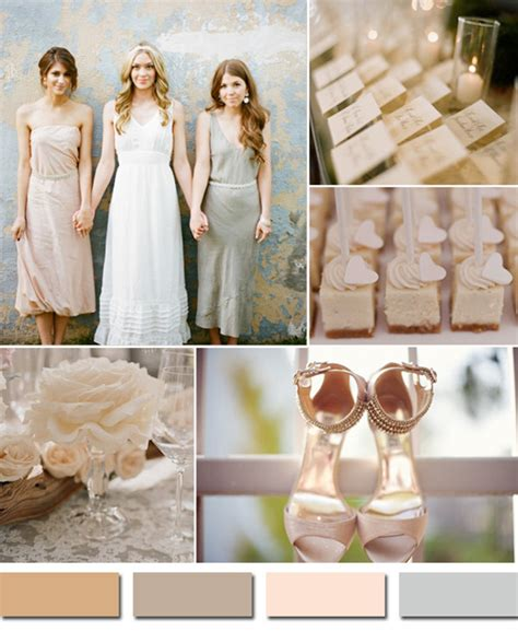neutral wedding colors fabulous 10 wedding color scheme ideas for fall 2014 trends