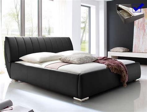 polsterbett luanos 180x200cm schwarz lattenrost klappbar - Schlafzimmer Nachttischle