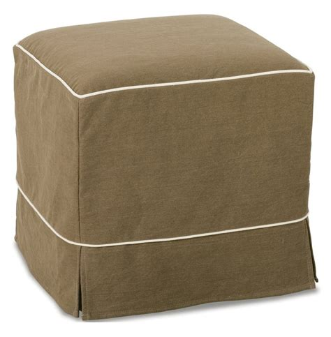 Parker Skirted Slipcover Cube Ottoman Sunroom Pinterest