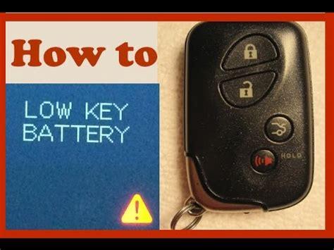 lexus is250 replace key battery