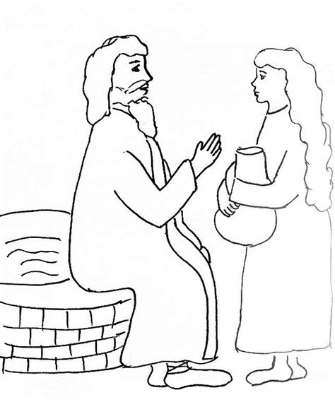 woman at the well coloring pages coloring home