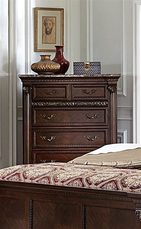 russian bedroom furniture homelegance russian hill bedroom set warm cherry 1808