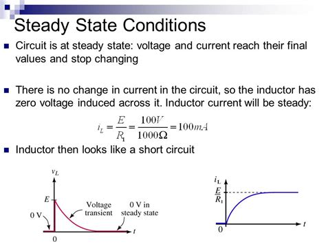 energy stored in inductor in steady state lesson 12 inductors transient analysis ppt