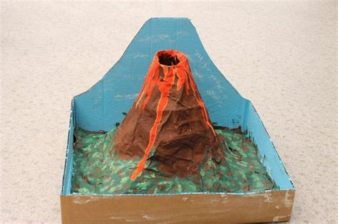 How To Make A Paper Volcano Model - 17 best images about volcanos on models