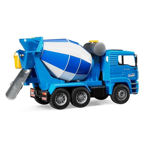 bruder toys bruder toys man cement mixer with realistic turning mixing