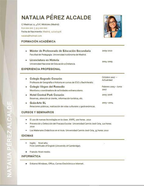 Modelo Curriculum Vitae Profesor Ingles Curriculum Vitae De Un Profesor Modelo Curriculum Elaboraci 243 N Curriculum De Profesores