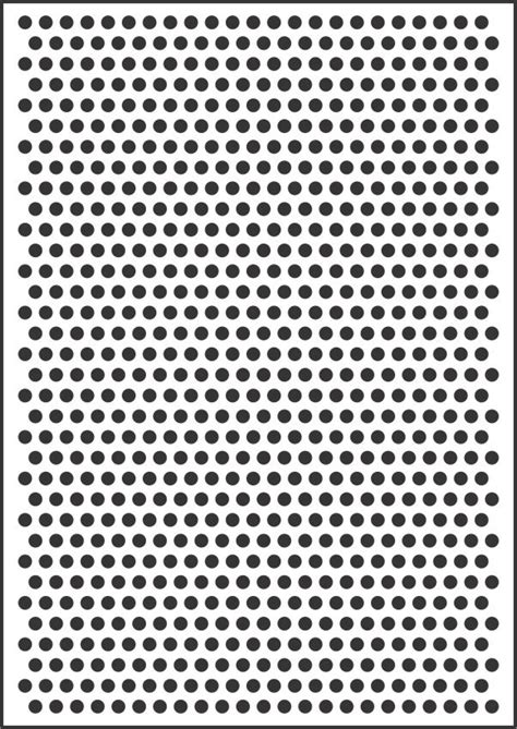 dot template 8mm polka dot template stencil for sale